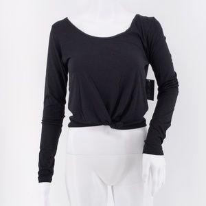 NWT Onzie Long Sleeve Knot Crop Black M/L